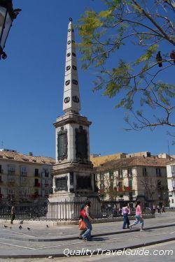 Obelisco Plaza de la Merced - Malaga